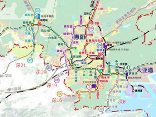 深圳5条地铁线路接驳惠州 半小时生活圈不是梦